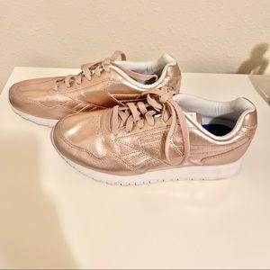 Reebok Women's Pink Metallic Sneakers